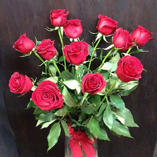 Red Roses <br> One Dozen