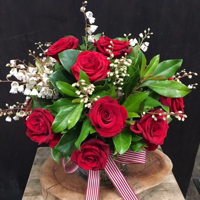 Red Rose Posy Vase Arrangemet