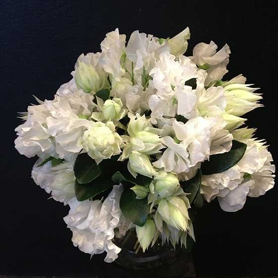 White & Green <br> Posy